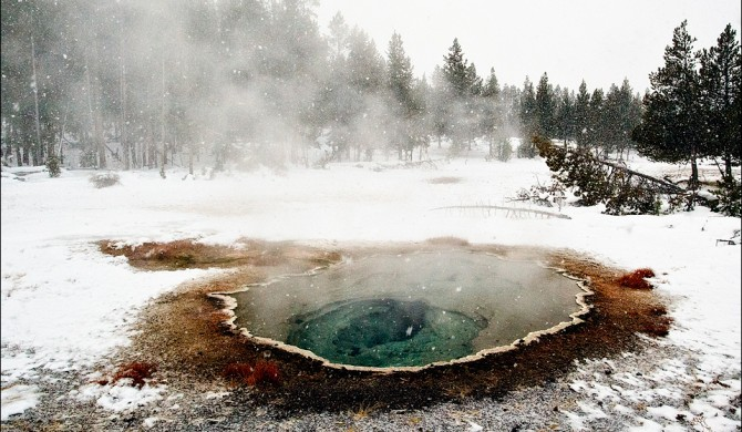 Unnamed hot spring next to Castle Geyser